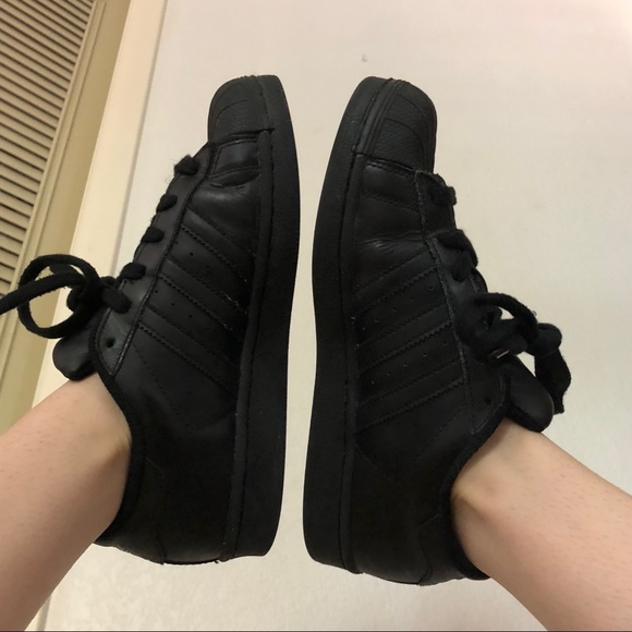 adidas Shoes - All black Adidas Originals Superstar sneakers d38bcd97e